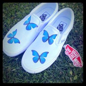 Butterfly slip on Vans